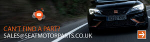 'can't find a part? sales@seatmotorparts.co.uk' as text over car image