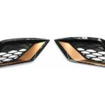 Genuine SEAT Leon CUPRA Copper/Rose Gold Front Bumper Grille Inserts 2017-2020